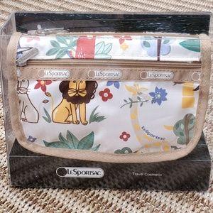 NWT Lesportsac 2 Pocket Travel Cosmetic Bag